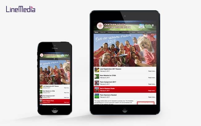Mobile, smartphone website design Windsor