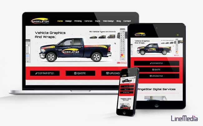 Line Media responsive website design Windsor